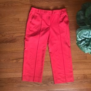 J. Crew Coral Piped Trouser